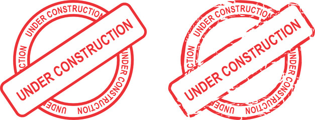 under construction word red stamp in vector format very easy to edit