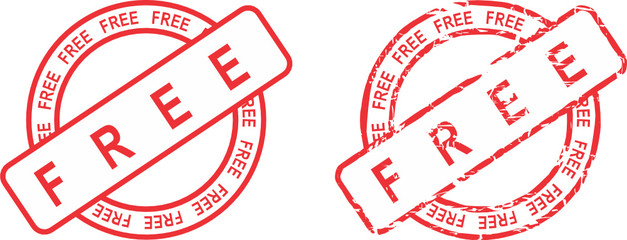 free word red stamp in vector format very easy to edit