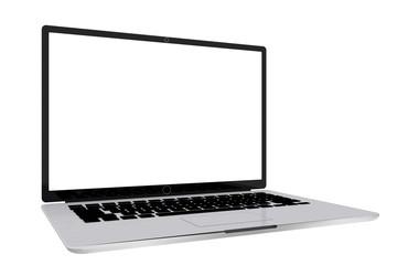 Blank laptop monitor.Empty screen