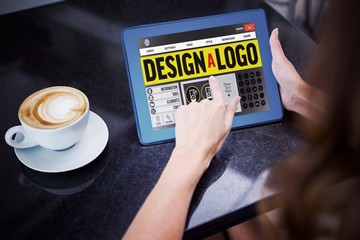 Composite image of webpage for create a logo