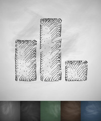 chart icon. Hand drawn vector illustration