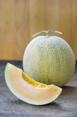 Ripe melon fruit