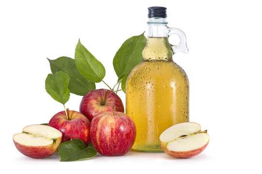 Cider and red apples
