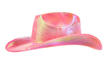 festively shining pink stetson cowboy hat