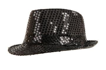 festively shining black hat