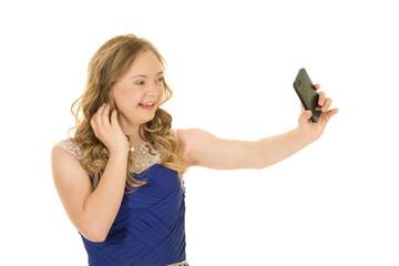 blue dress photo phone
