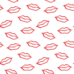 Pattern with lips.