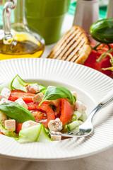 Fresh mediterranean salad.