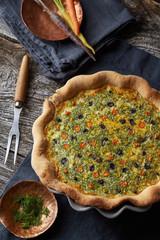 home-made vegetable tart