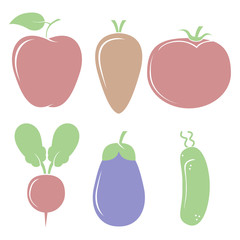 A lot of different fruits and vegetables for a healthy diet and a happy life
