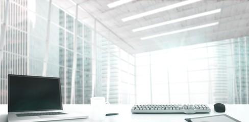Composite image of desk