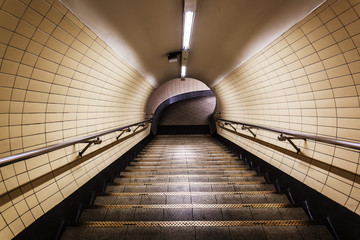 pedestrian tunnel of the London subway