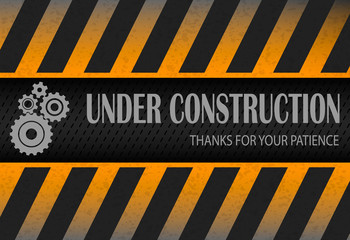 Under construction design, great as web design background, vector illustration