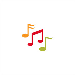 music notes logo vector design
