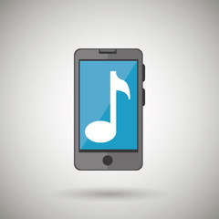 smartphone music isolated icon design, vector illustration  graphic