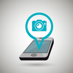 smartphone camera isolated icon design, vector illustration  graphic