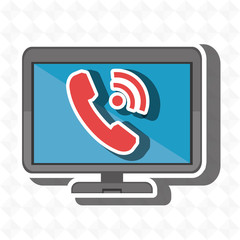 monitor phone isolated icon design, vector illustration  graphic