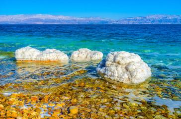 The salt on the stones