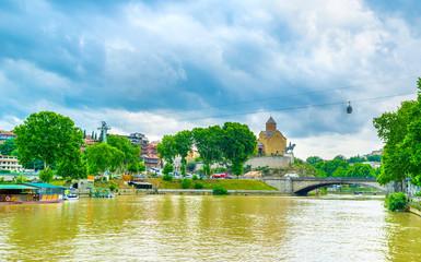 The Kura River in Tbilisi