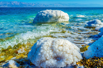 The stones in salt