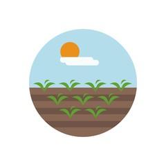 Farming logo design vector