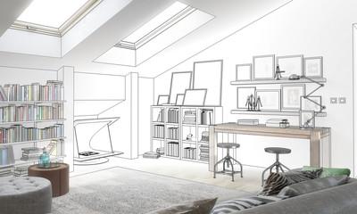 Dachstudio (Entwurf)