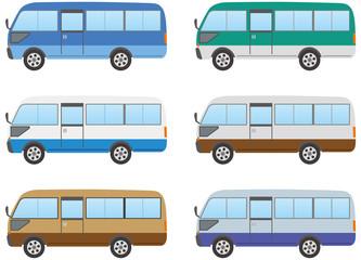 マイクロバスのカラーバリエーション