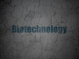 Science concept: Biotechnology on grunge wall background