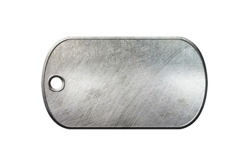 old metal dog tag