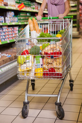 Trolley full of products