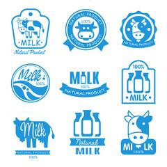 Blue and White Milk Symbols