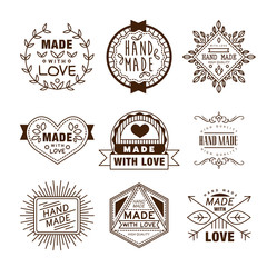 Retro design insignias logotypes. vintage elements.