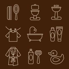 Set of Icons Bathroom