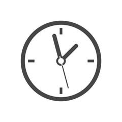 Simple round clock, vector illustration