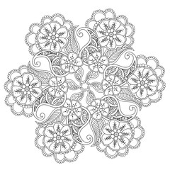 Hand drawn Mendie Mandala.