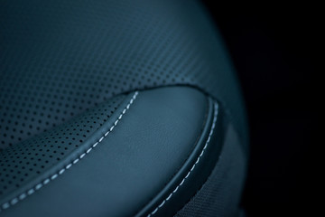 Luxury car interior details. Leather seat