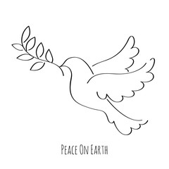 Dove symbol of peace vector illustration.