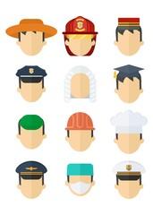 set of professional mans hats