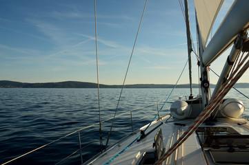 Segelboot in der kroatischen Adria