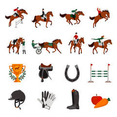 Horse Rising Sport Icons