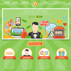 Lottery And Jackpot One Page Template