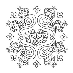Abstract Mendie Mandala. Vector illustration