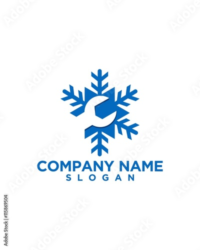 Quot Heating And Air Conditioning Logo Design 05 Quot Stock Image