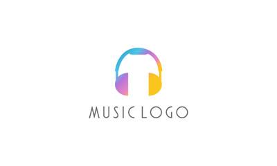 collorfull music logo