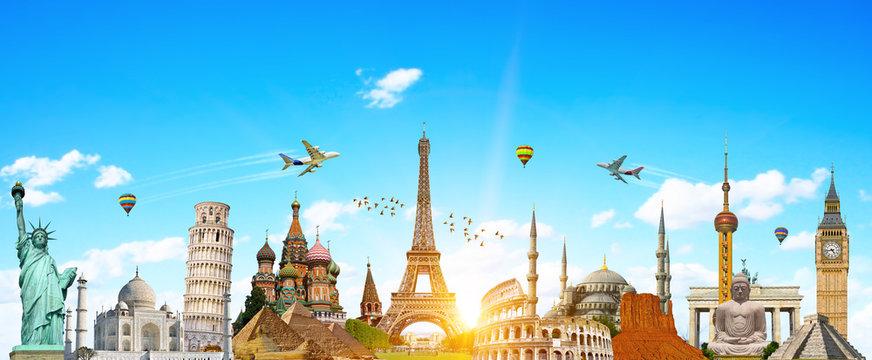 Famous landmarks of the world