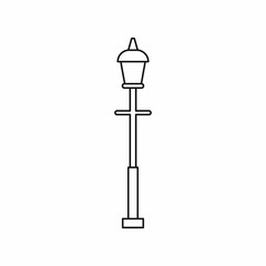 Lantern icon in outline style. Light symbol isolated vector illustration