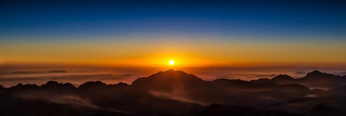 Aluminium Prints Sunset Mt Sinai, Egypt