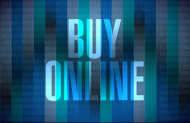 buy online binary background sign