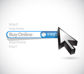 buy online search bar sign illustration
