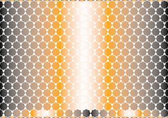 Simple polygons of Arabic style gradient orange and black